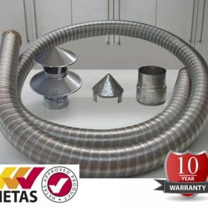 Admirable 5 Inch 316 Flexible Flue Lining Kit The Stove Shop Home Remodeling Inspirations Genioncuboardxyz